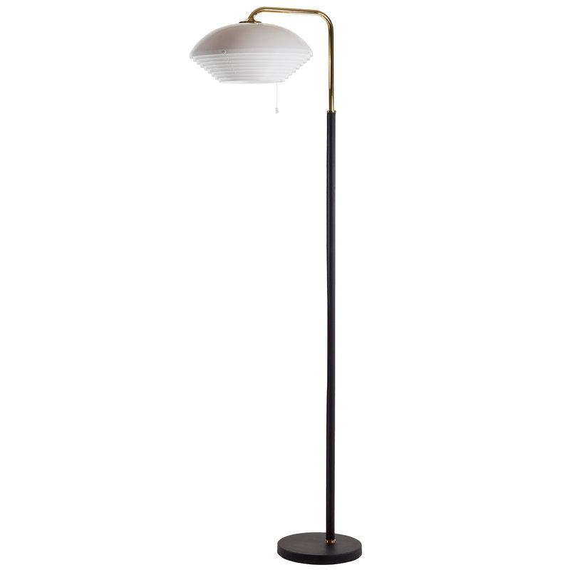 Artek Lampada da terra Aalto A811, ottone lucidato