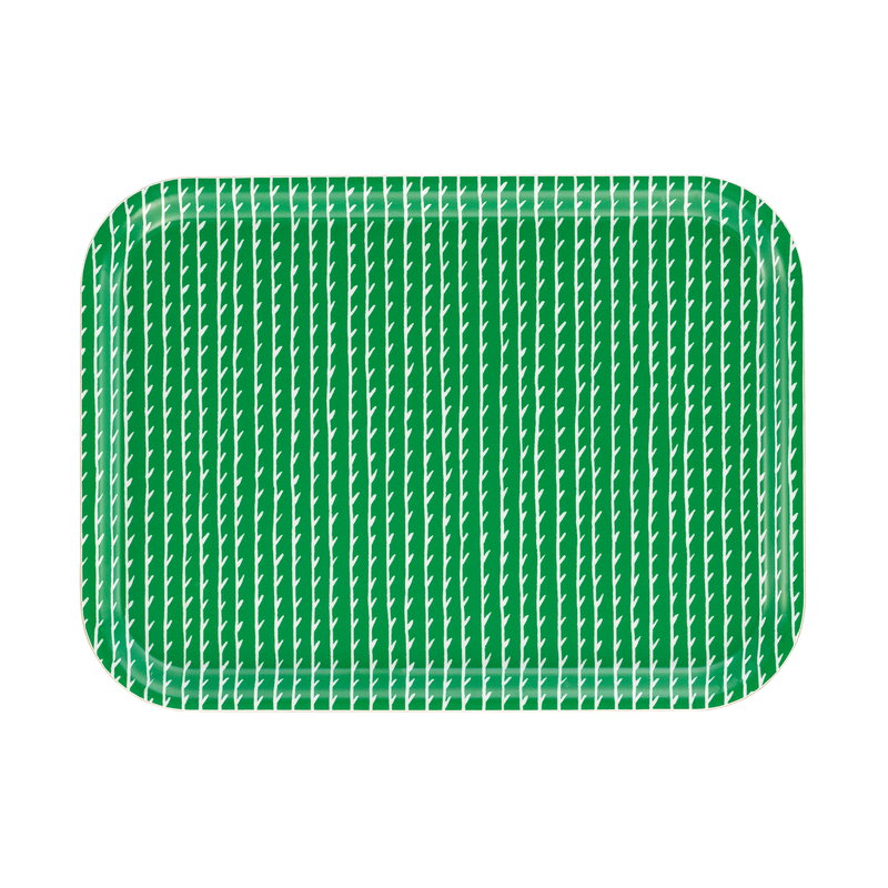 Artek Rivi tray 27 x 20 cm, green-white