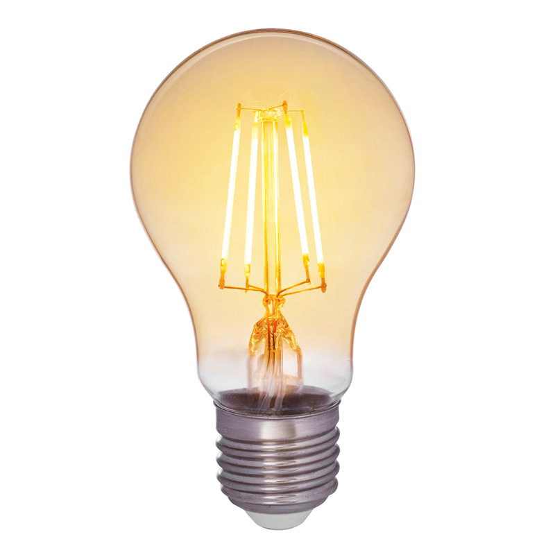 Airam LED Decor Amber standard bulb 5W E27 380lm, dimmable