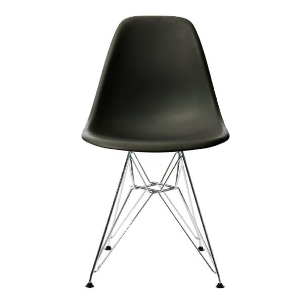 Vitra Eames DSR tuoli, musta - kromi