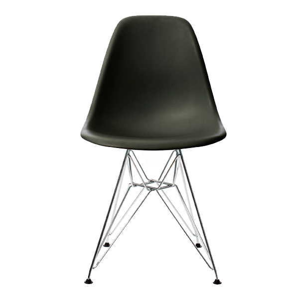 Vitra Eames DSR chair, basic dark - chrome