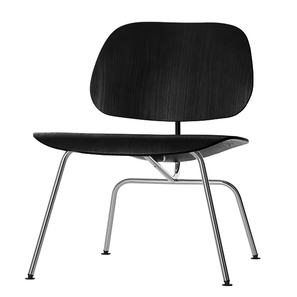 Vitra Plywood Group LCM lounge chair, black - chrome