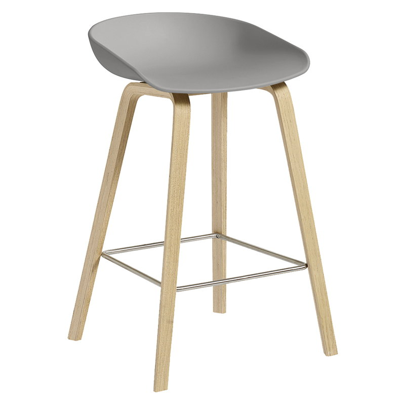Hay About A Stool AAS32, 64 cm, concrete grey - soaped oak