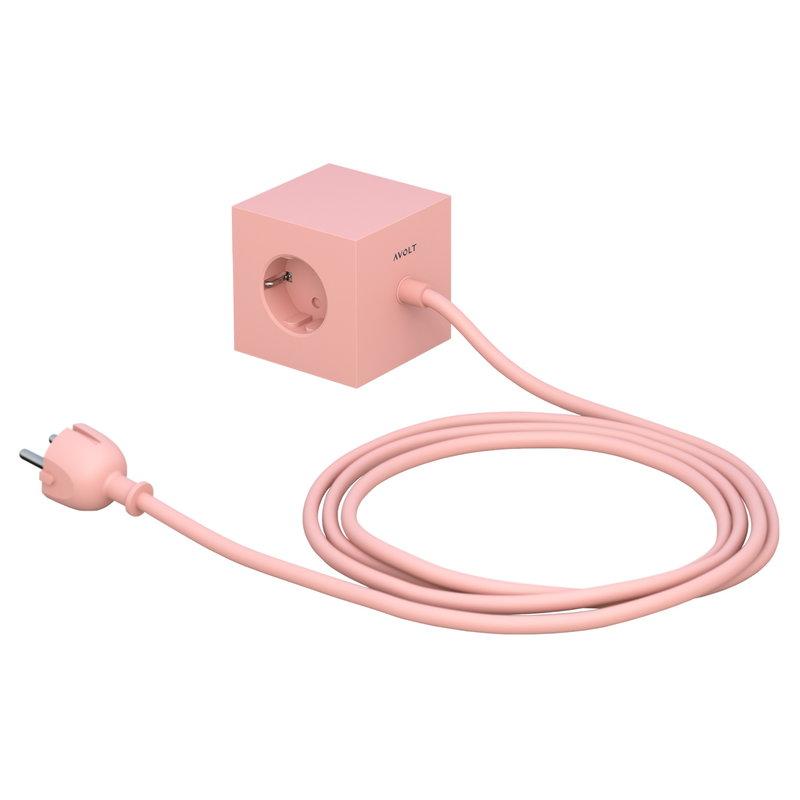 Avolt Square 1 Base jatkojohto, vaaleanpunainen