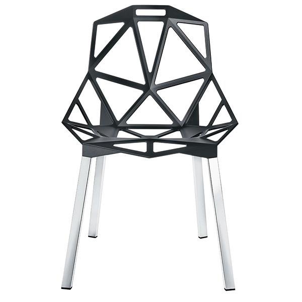 Magis Chair One tuoli, antrasiitti, kiillotetut alumiinijalat