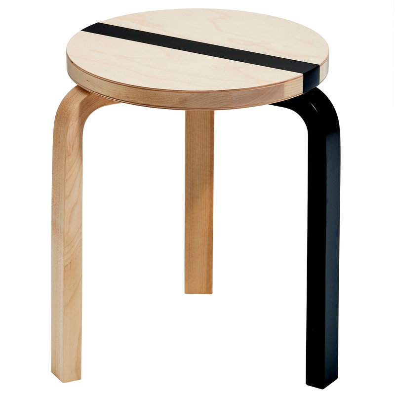 Enjoyable Artek Aalto Stool 60 Publics Fds 15 Years Birch Black Creativecarmelina Interior Chair Design Creativecarmelinacom