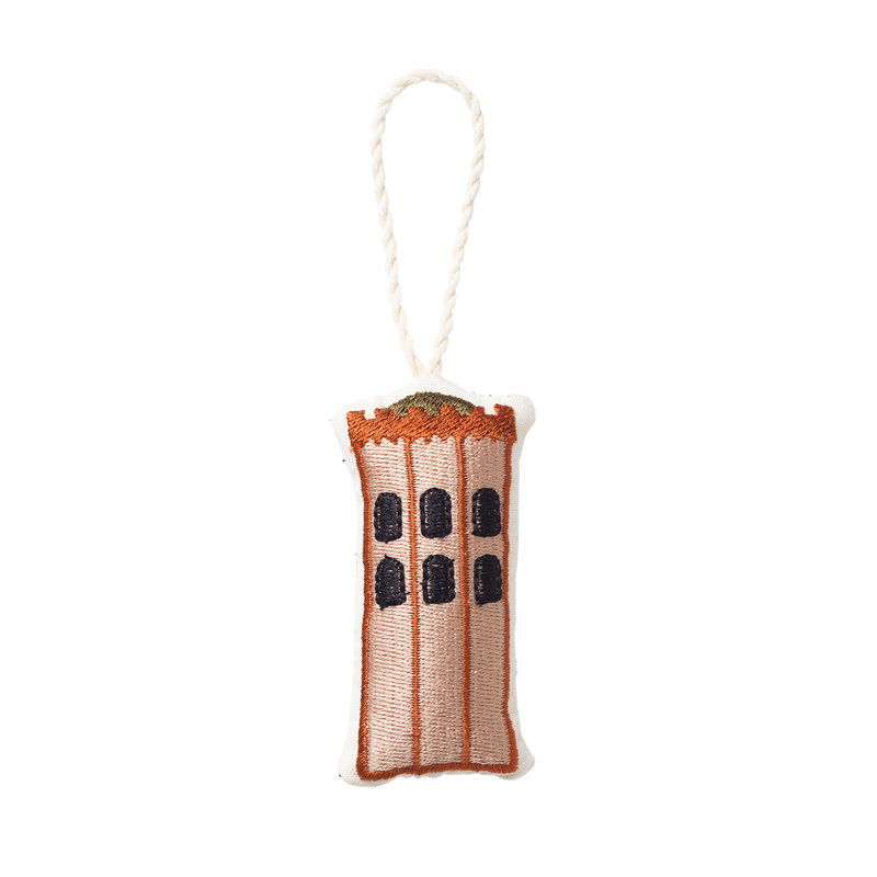Ferm Living Copenhagen embroidered ornament, The Round Tower