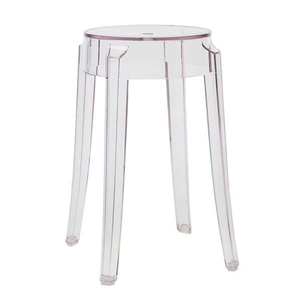 Kartell Charles Ghost stool, 46 cm