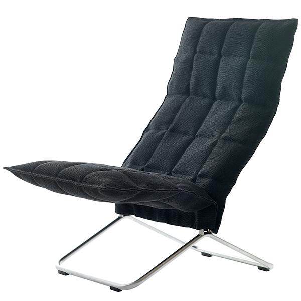 Woodnotes K tuoli, kapea, musta