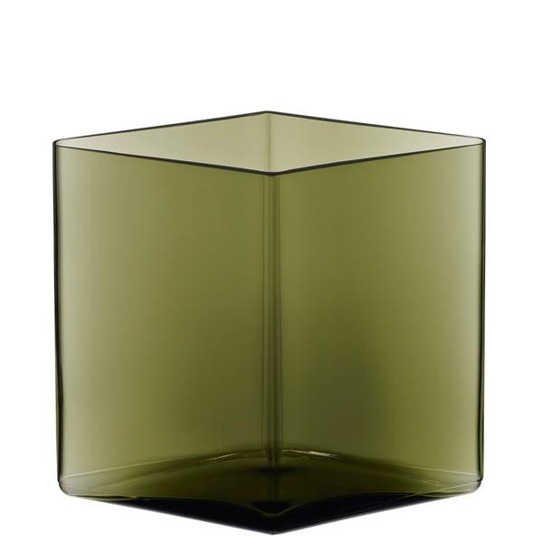 Iittala Vaso Ruutu 205 x 180 mm, verde muschio