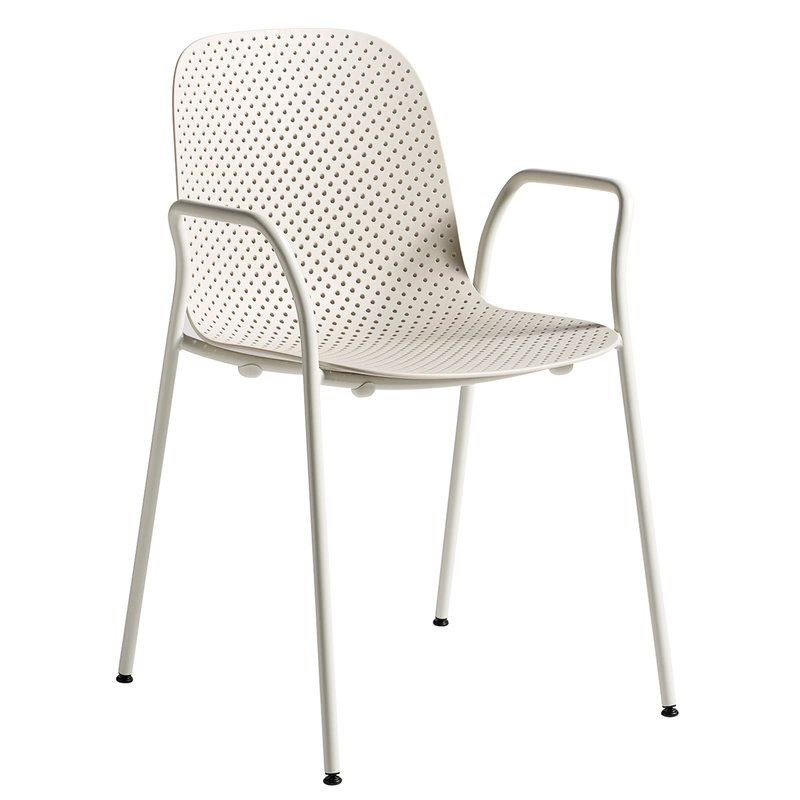 Hay 13Eighty armchair, grey white - nude