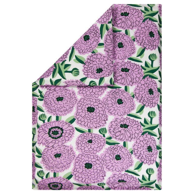 Marimekko Primavera pussilakana 150 x 210 cm, l.valkoinen-violetti-vihreä