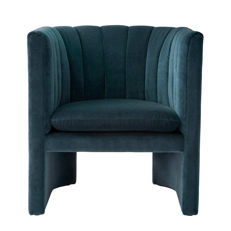 &Tradition Loafer SC23 lounge chair, Velvet 10 Twilight