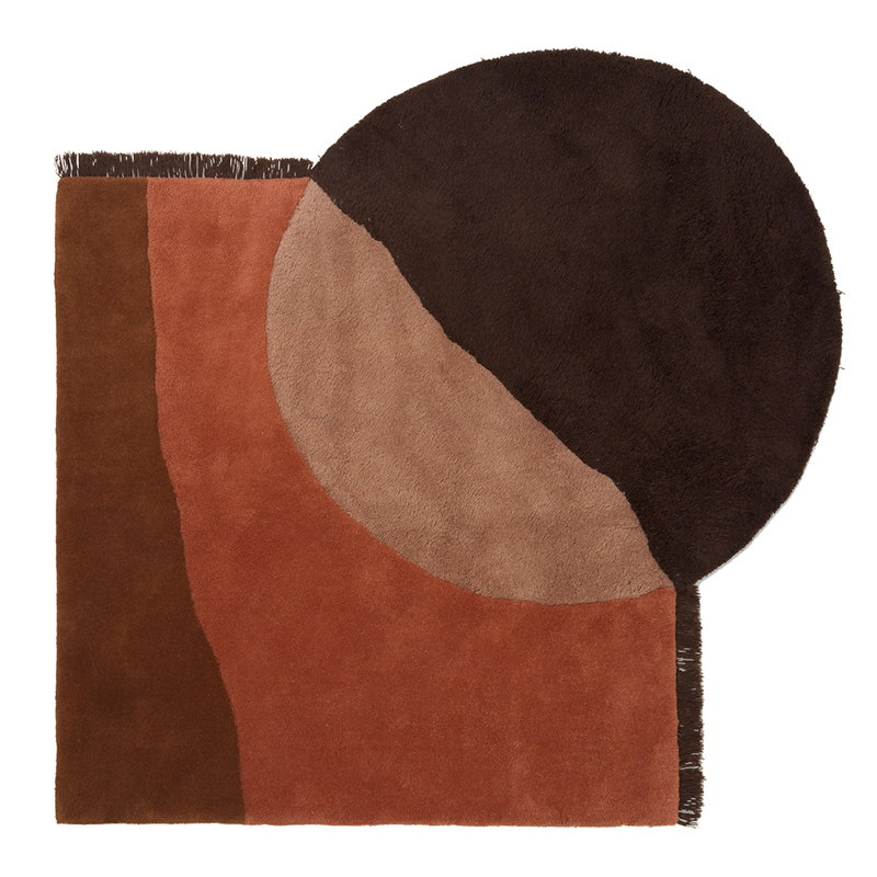 Ferm Living View tufted rug, red brown