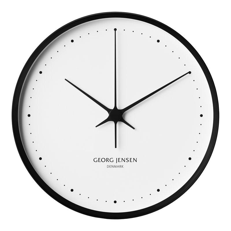 Georg Jensen Henning Koppel wall clock, 30 cm, black - white