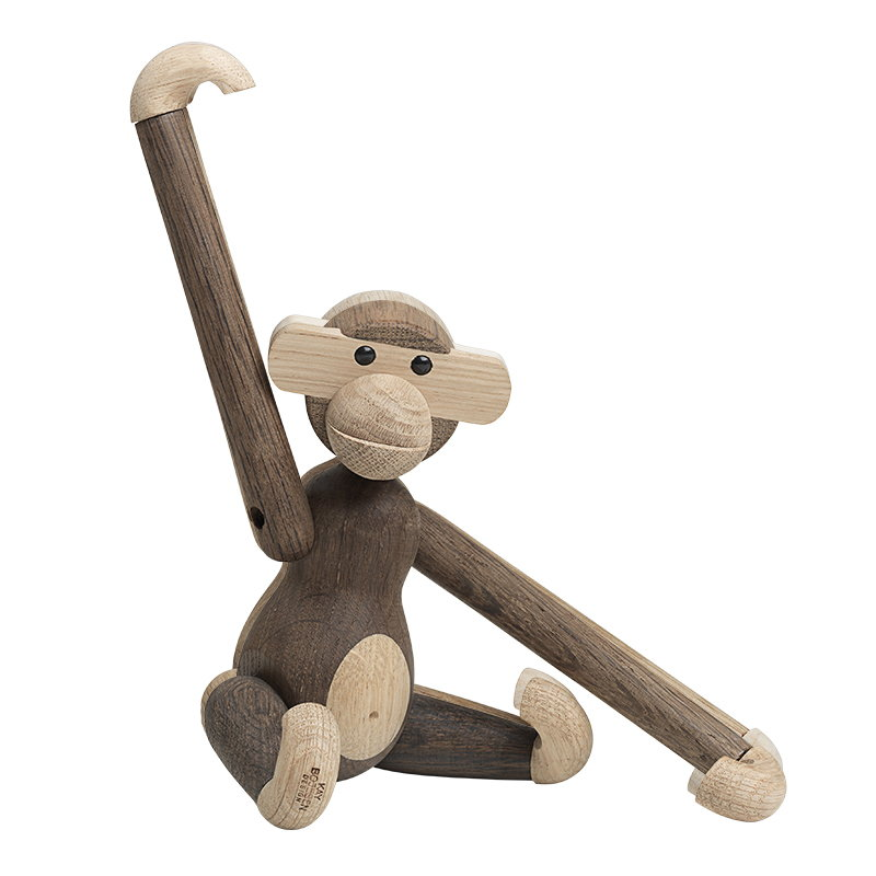 Kay Bojesen Wooden Monkey, small, smoked oak