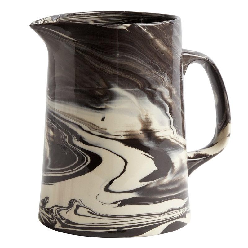 Hay Marbled jug, black