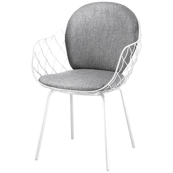 Magis Pina chair, white steel frame, grey seat