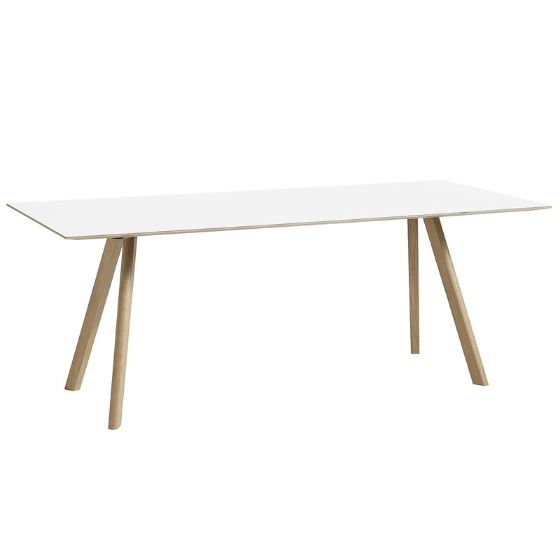 Hay CPH30 table 200x90 cm, soaped oak - white laminate