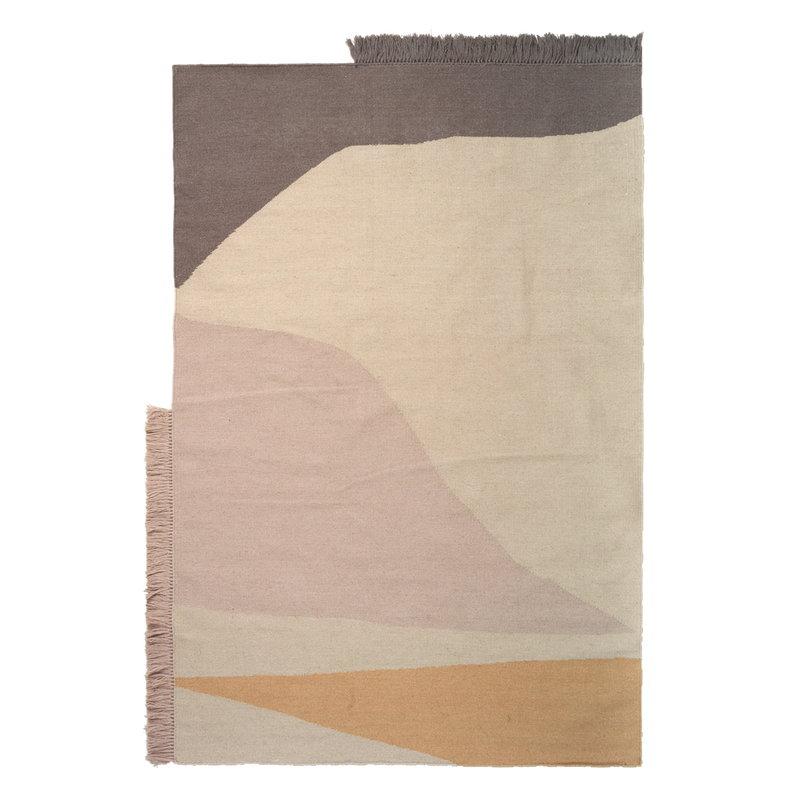 Ferm Living Kelim rug, Earth, 140 x 200 cm