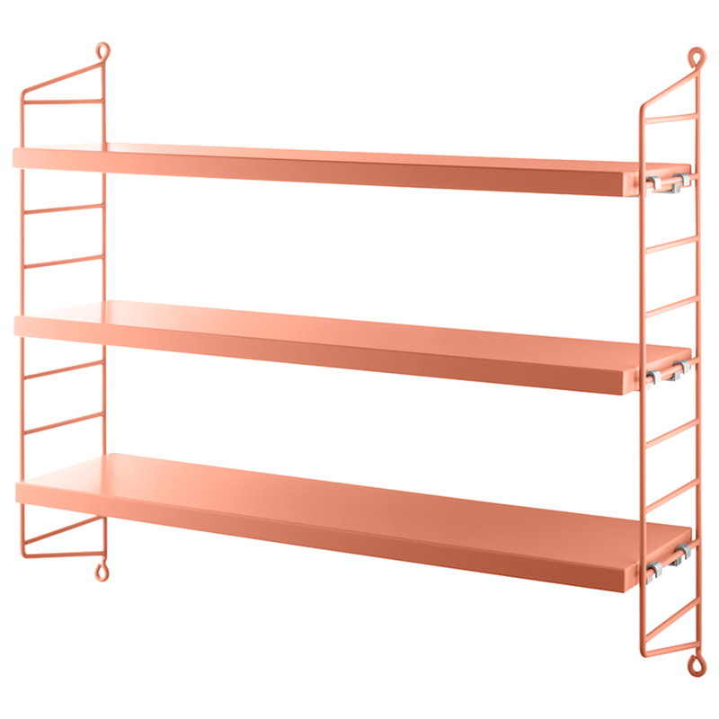String Furniture String Pocket shelf, blush