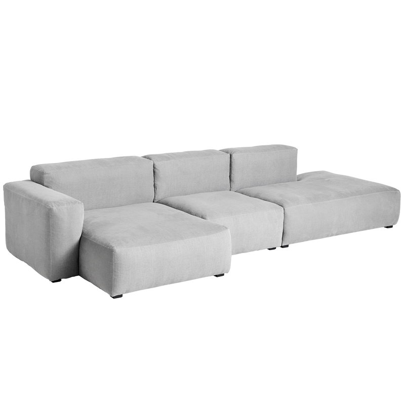 Hay Mags Soft chaise longue sofa 321 cm, low arm left, Linara 443