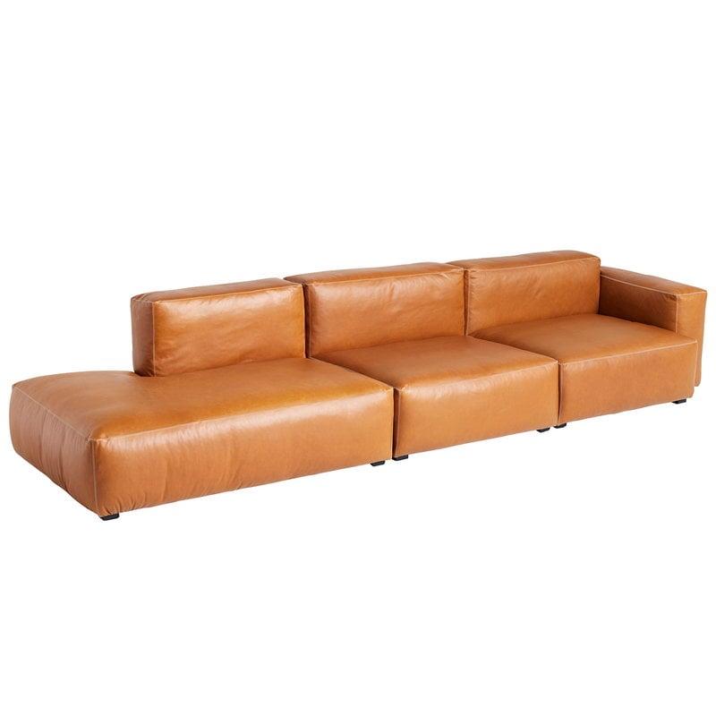 Hay Chaise longue Mags Soft 338 cm, bracciolo basso destro, Silk 025