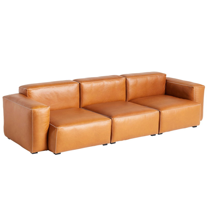 Hay Mags Soft sofa, 3-seater/269 cm, low arm, Silk 0250