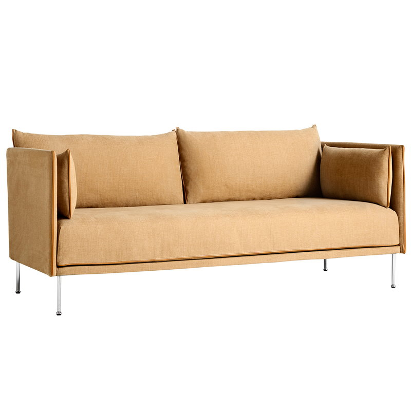 Hay Silhouette sofa 2-seater, Linara 142/Silk cognac - chrome