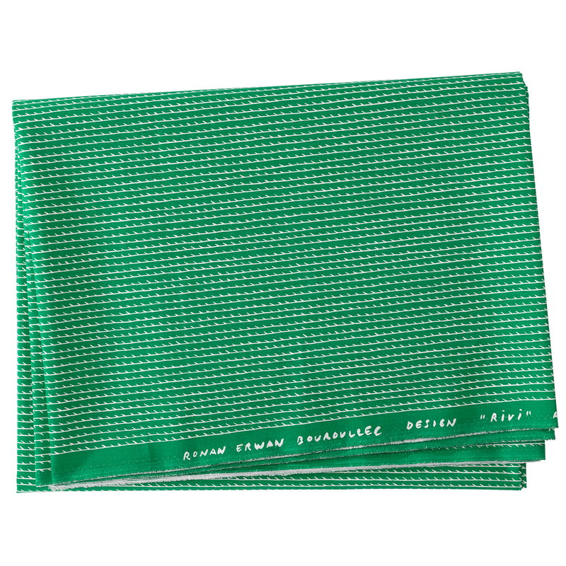 Artek Rivi cotton fabric 150 x 300 cm, green-white