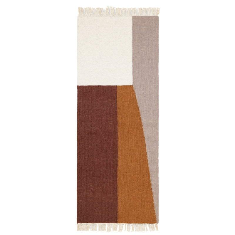 Ferm Living Kelim käytävämatto, Borders, 180 x 70 cm