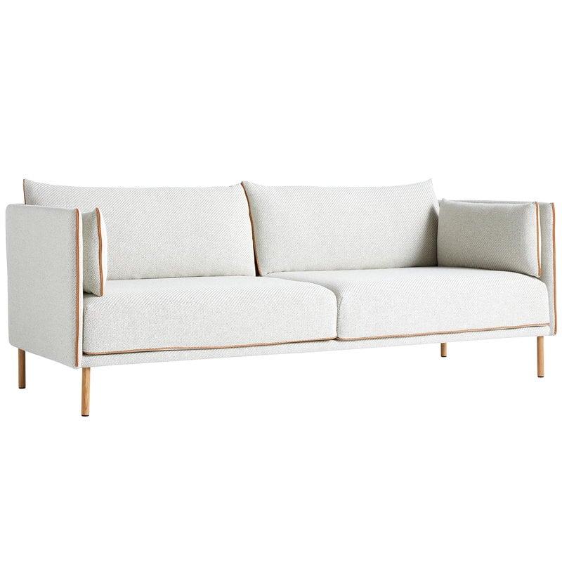 Hay Silhouette sofa 3-seater, Coda 100/Silk cognac - oiled oak