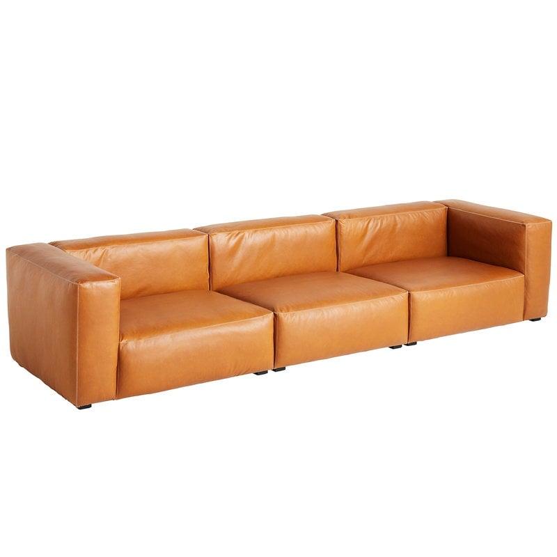Hay Mags Soft sohva 3-ist/329,5 cm, korkea käsinoja, Silk 0250