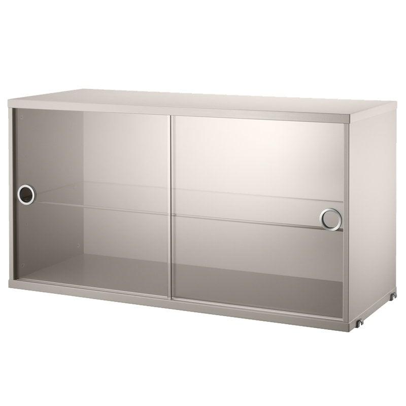 String Furniture String display cabinet, beige