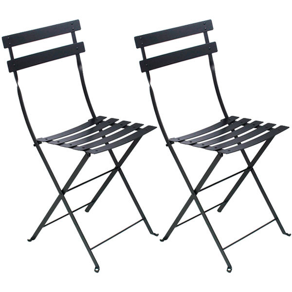 Fermob Bistro Metal chair, 2 pcs, liquorice
