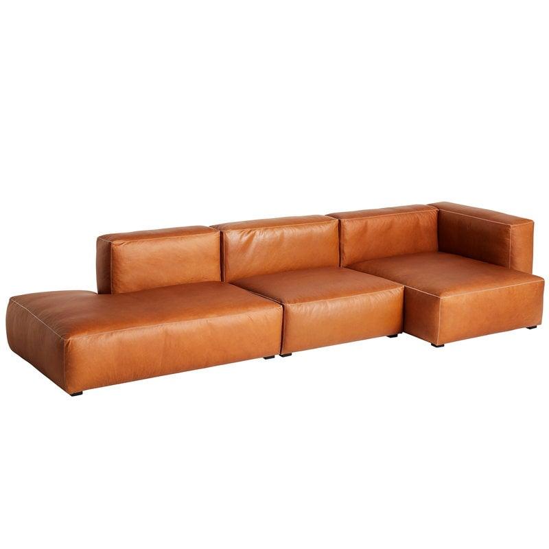 Hay Chaise longue Mags Soft 338 cm, bracciolo alto destro, Silk 0250