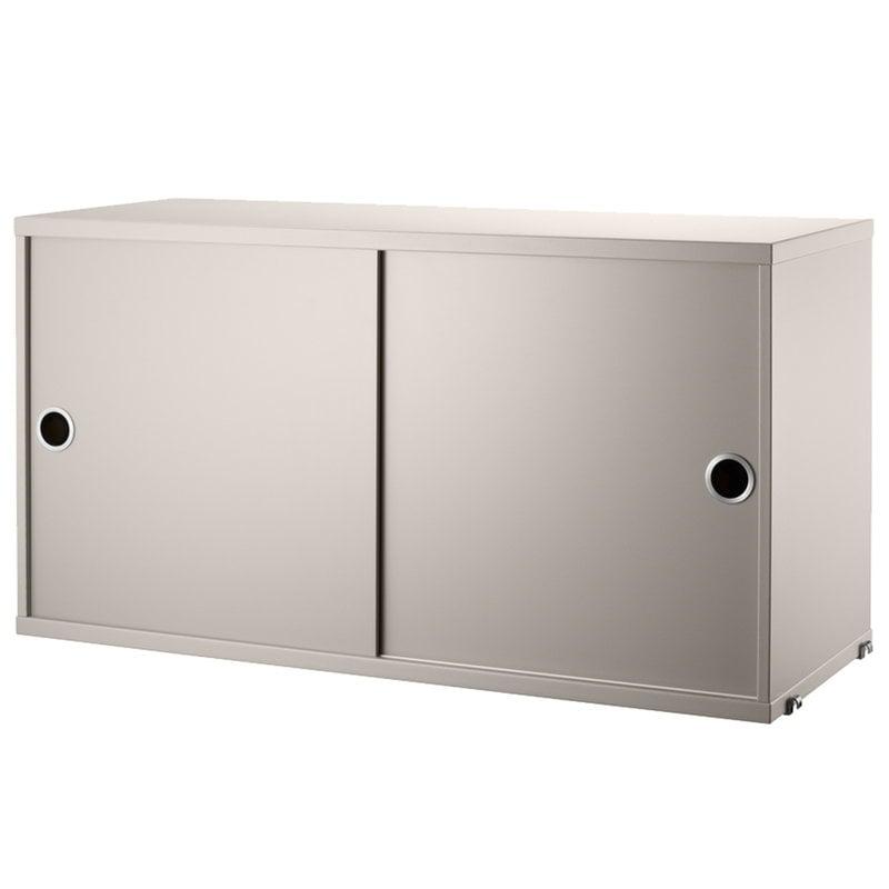 String Furniture Mobiletto String, 78 x 30 cm, beige