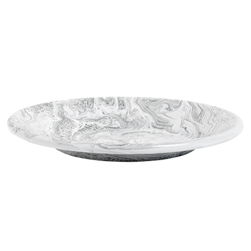 Hay Soft Ice lunch plate, grey