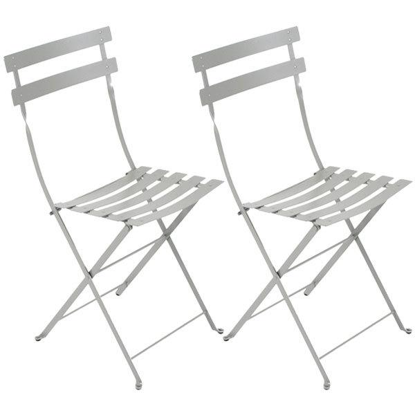 Fermob Bistro Metal tuoli, 2 kpl, steel grey