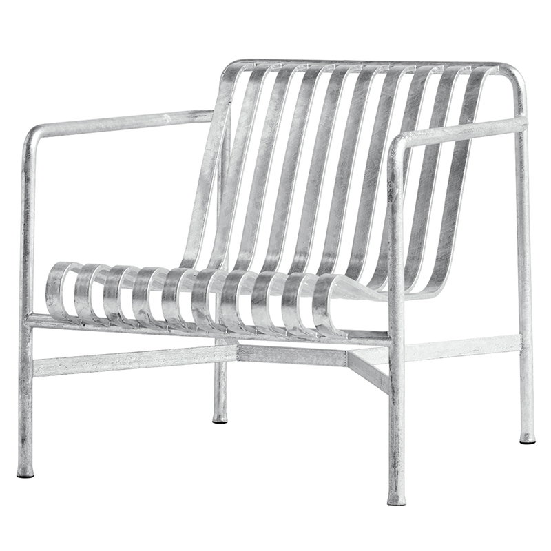 Hay Palissade lounge chair, low, hot galvanised