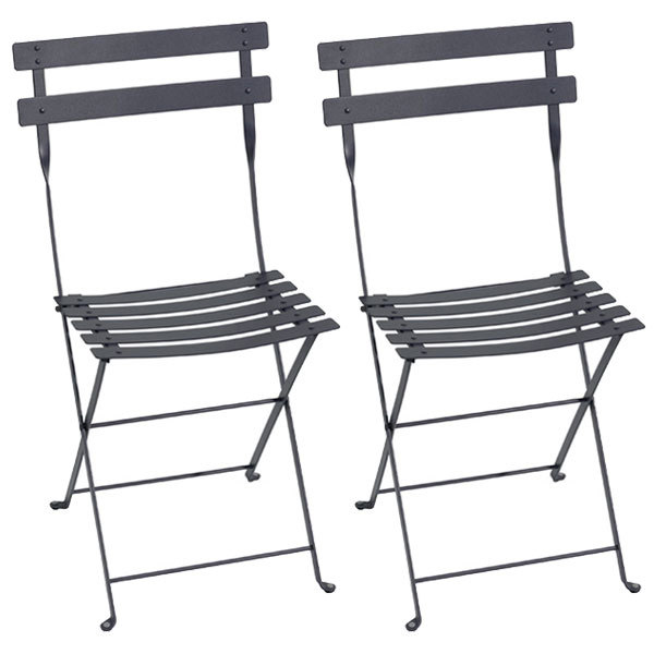 Fermob Bistro metal chair, 2 pcs, anthracite