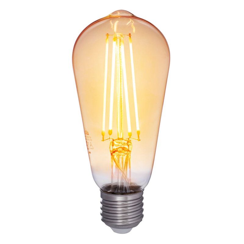 Airam Decor Amber LED Edison bulb 5W E27 380lm, dimmable