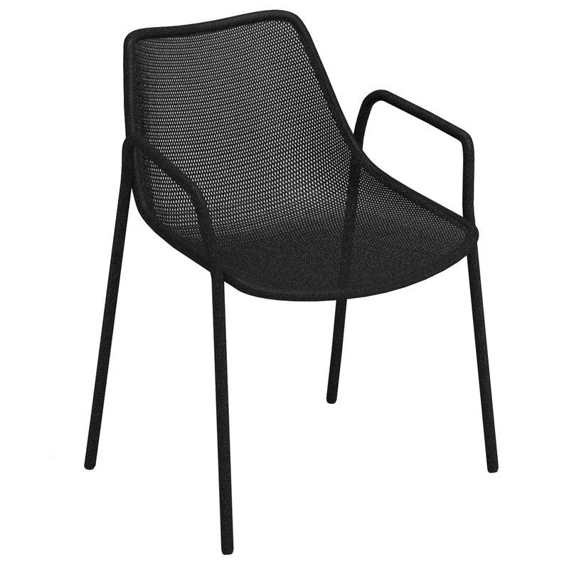 Emu Round armchair, black