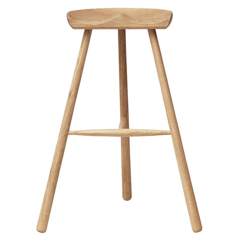 Form & Refine Shoemaker Chair No. 78 bar stool, white oiled oak