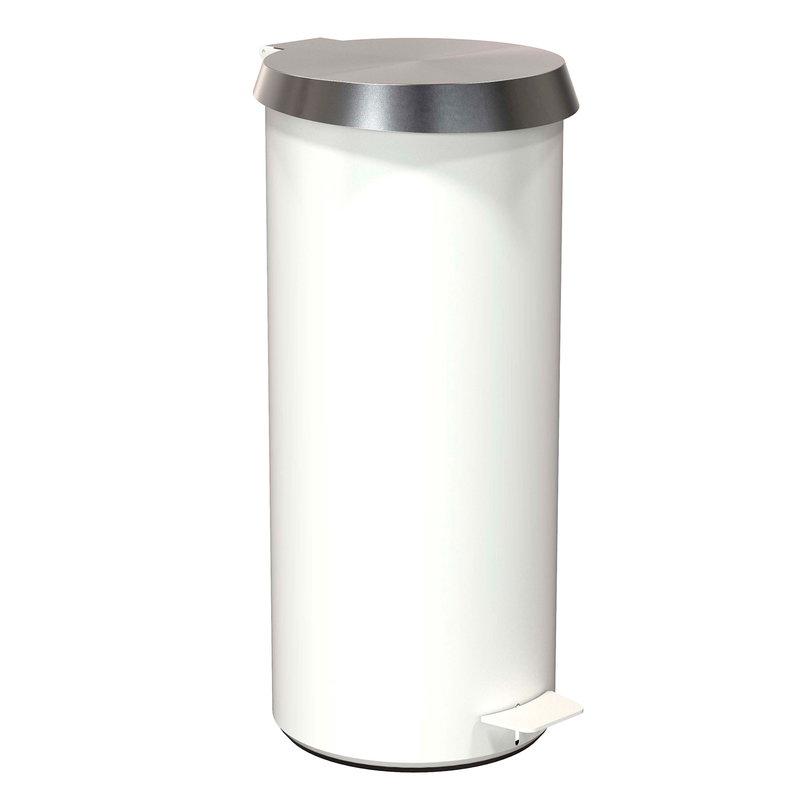 Frost Pedal Bin 550, brushed steel - white