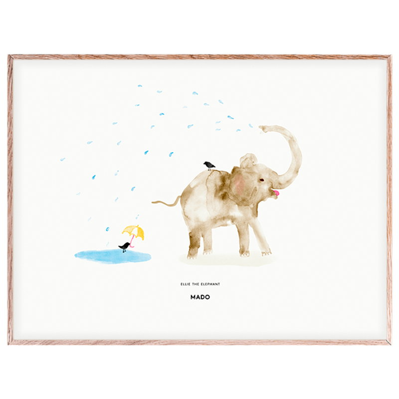 MADO Poster Ellie the Elephant 40 x 30 cm