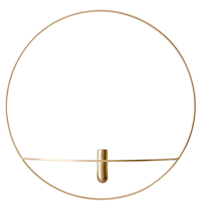 Menu POV Circle vase, L, brass