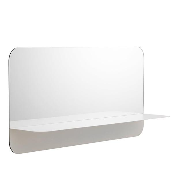 Normann Copenhagen Specchio Horizon, orizzontale, bianco