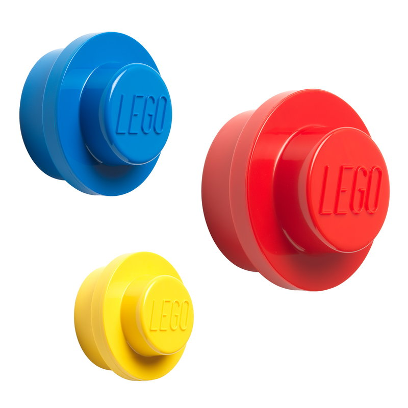 Room Copenhagen Lego wall hanger 3 pcs, red-blue-yellow