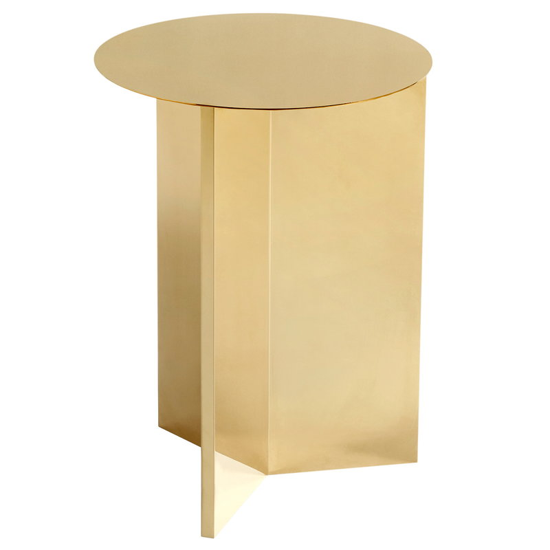 Hay Slit table, high, brass